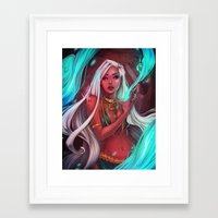 siren Framed Art Prints featuring Siren by Ellen Su