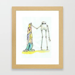 The Skeleton Framed Art Print
