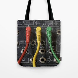 Korg Ms 20 Modular coloured patches cords Tote Bag