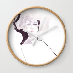 Fashion illustration in pale colors Wall Clock