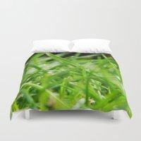 grass Duvet Covers featuring Grass by MCADesign