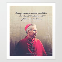 "Fulton Sheen ""Blueprint"" Art Print"