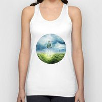 pilot Tank Tops featuring Fighter Pilot by Richard George Davis