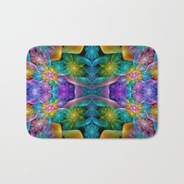Colorful Fractal Juliascope Bath Mat