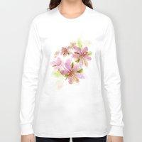 blush Long Sleeve T-shirts featuring Blush by La Rosette Illustration