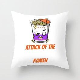 Ramen cup Throw Pillow