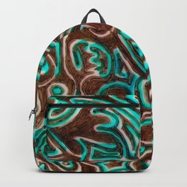 Jack Turquoise/Brown Backpack