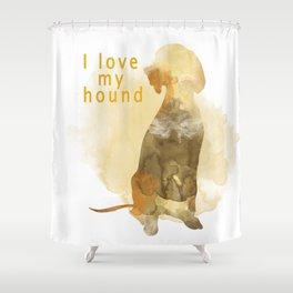 Hound Shower Curtain