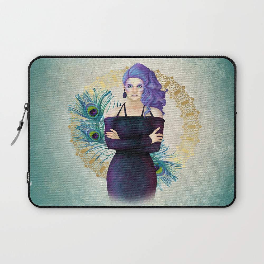 Purple Peacock Pinup Laptop Sleeve LSV8532558
