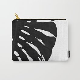 Black Banana Leaf (Black and White) Carry-All Pouch