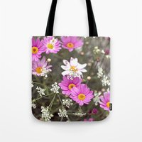 daisy Tote Bags featuring Daisy by LebensART Photography