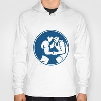 wrestling Hoodies featuring Wrestlers Wrestling Circle Icon by patrimonio