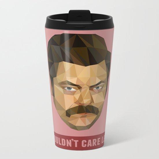 I Couldn't Care Less Metal Travel Mug