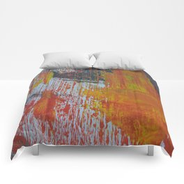 Abstract Paint Swipes Comforters