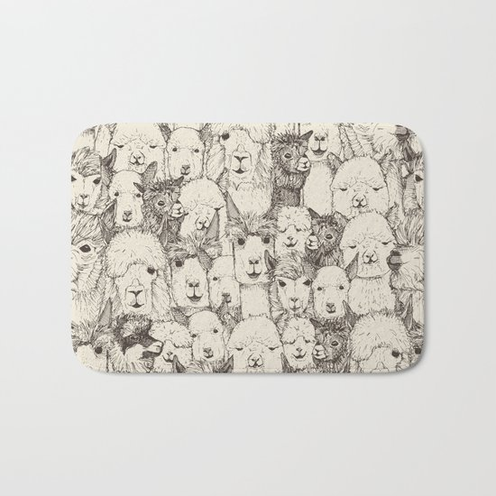just alpacas natural Bath Mat