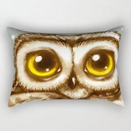 Owl Face Rectangular Pillow