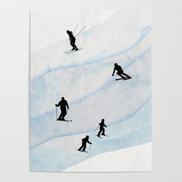 Skiing Hills Poster