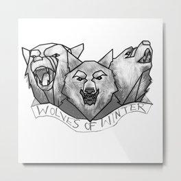 Wolves of Winter Metal Print