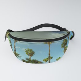 Yves Palm Tress reflection on pond with Lily Pads Fanny Pack