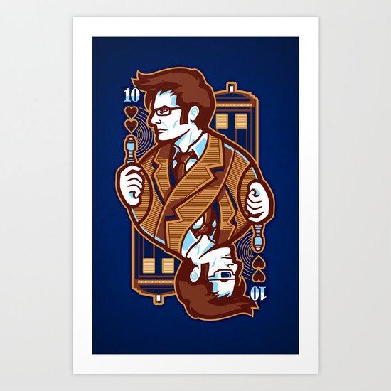 10th of Hearts Art Print