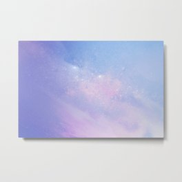 Pastel Purple Galaxy Metal Print