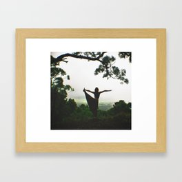 Forest Yoga Framed Art Print