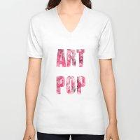 artpop V-neck T-shirts featuring ARTPOP by SAMMO