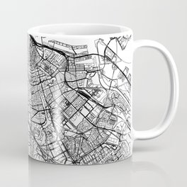 Amsterdam White Map Coffee Mug