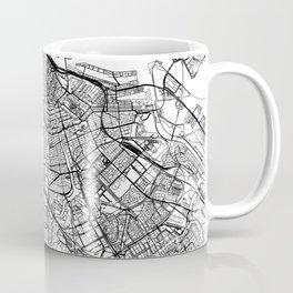 Amsterdam White Map Coffee Mug