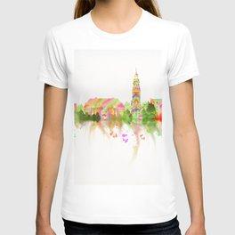 Colorful Harvard University Skyline T-shirt