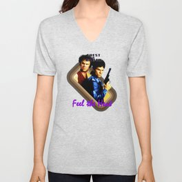 Chest and Brock- Feel The Heat Unisex V-Neck