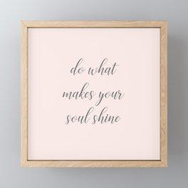 Soul Shine Framed Mini Art Print