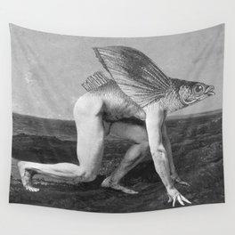 Homo Piscis Volens (Flying Fish Man) Wall Tapestry