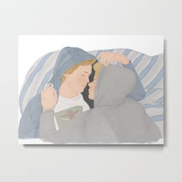 Isak & Even illustration | Skam, Evak Metal Print