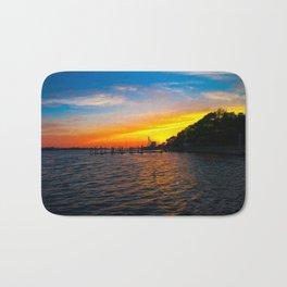 Sunset at the  Landing Bath Mat