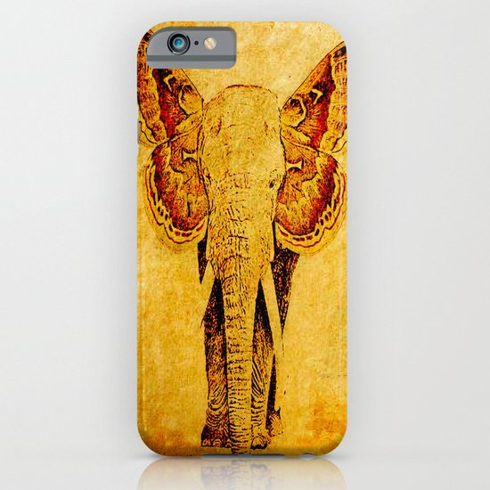 The elephant who wanted to be a butterfly iPhone & iPod Case