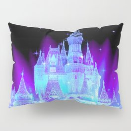 Enchanted Castle Turquoise Purple Pillow Sham
