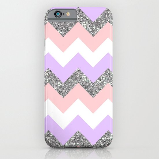 purple & coral chevron iPhone & iPod Case