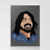 dave grohl Stationery Cards featuring Dave Grohl - Fan Art by Matty723