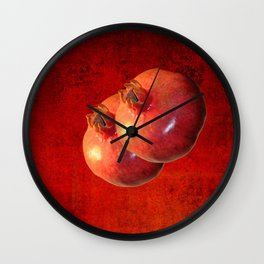 pomegranates - Wall Clock