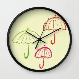 Happy Umbrella Wall Clock