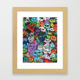 Crazy Cats Color  Framed Art Print