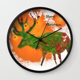 Merry Christmas 3 Wall Clock
