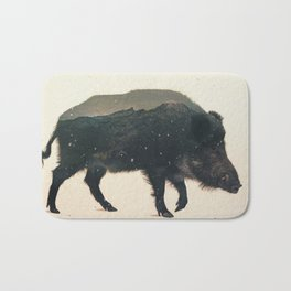 Veluwe: Wild Boar Bath Mat