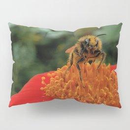 Bee on Mexican Sunflower Pillow Sham