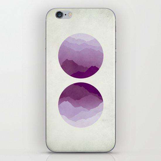 Purple Mountains iPhone & iPod Skin