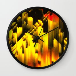 Memories And Fire Wall Clock