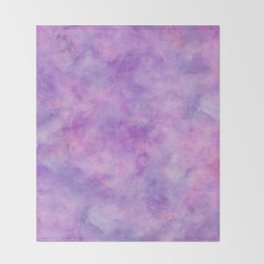 Lavender Purple Marble Watercolor Texture Throw Blanket