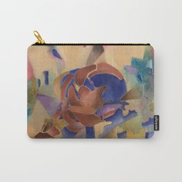 The world blooms in neon skies Carry-All Pouch