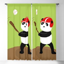 Play baseball together with a panda. Blackout Curtain